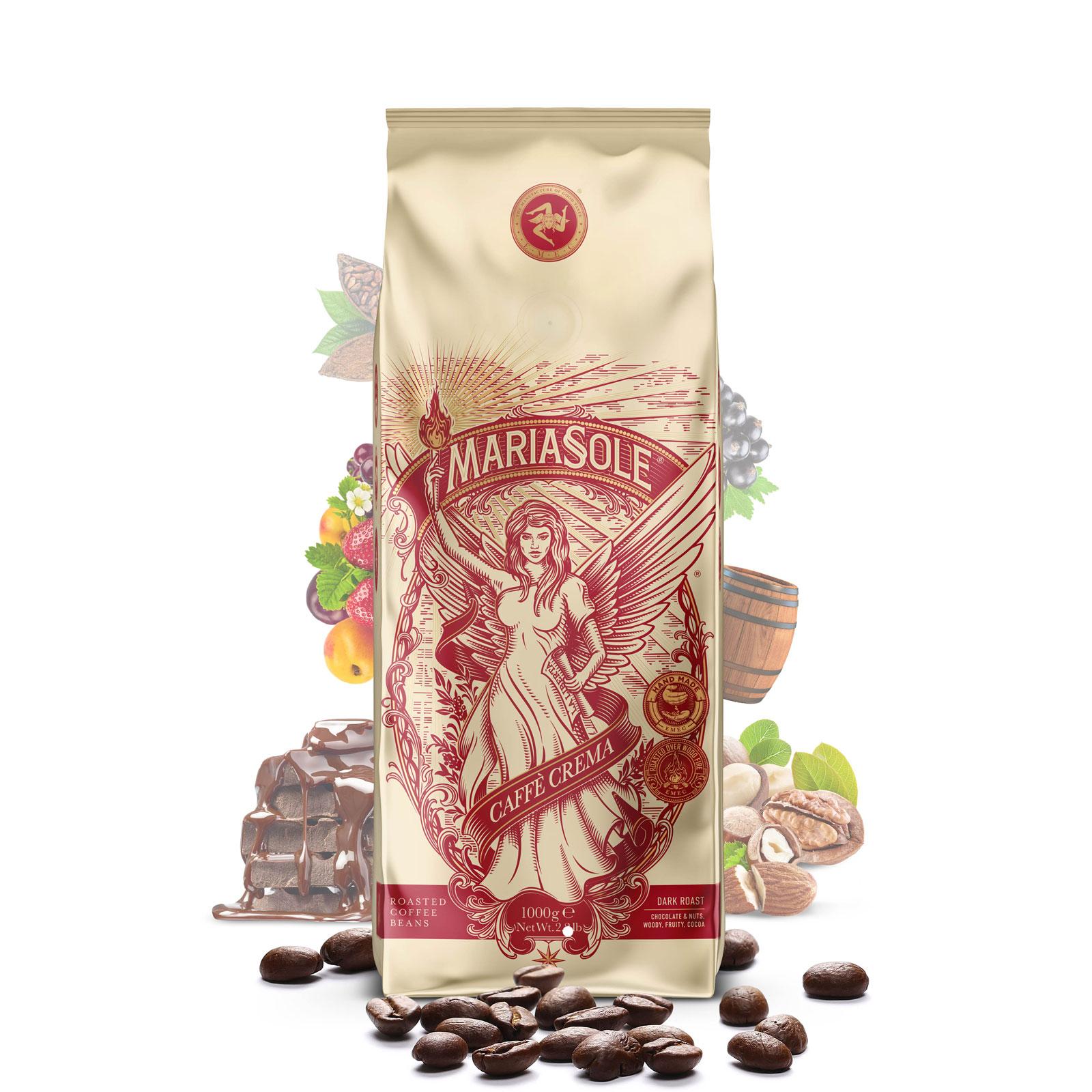 MARIASOLE - Caffè  Crema - 1000g - Bohnen