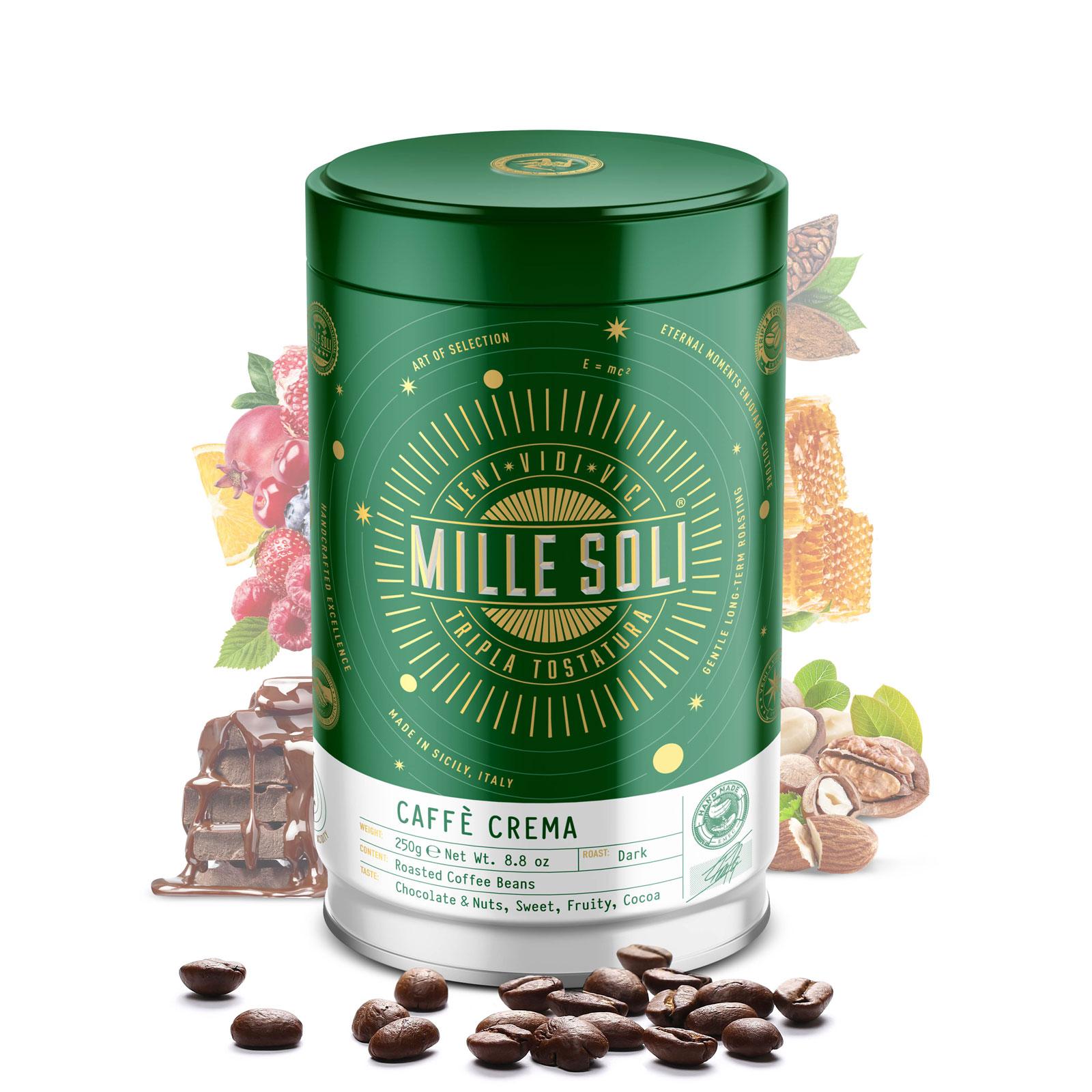 MILLE SOLI - Caffè Crema - 250g - Bohnen