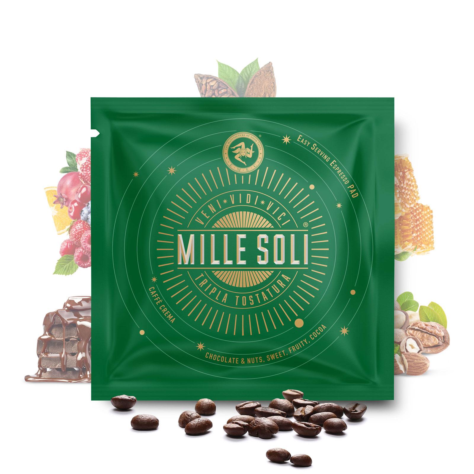 MILLE SOLI - Caffè Crema - E.S.E Pads LUNGO