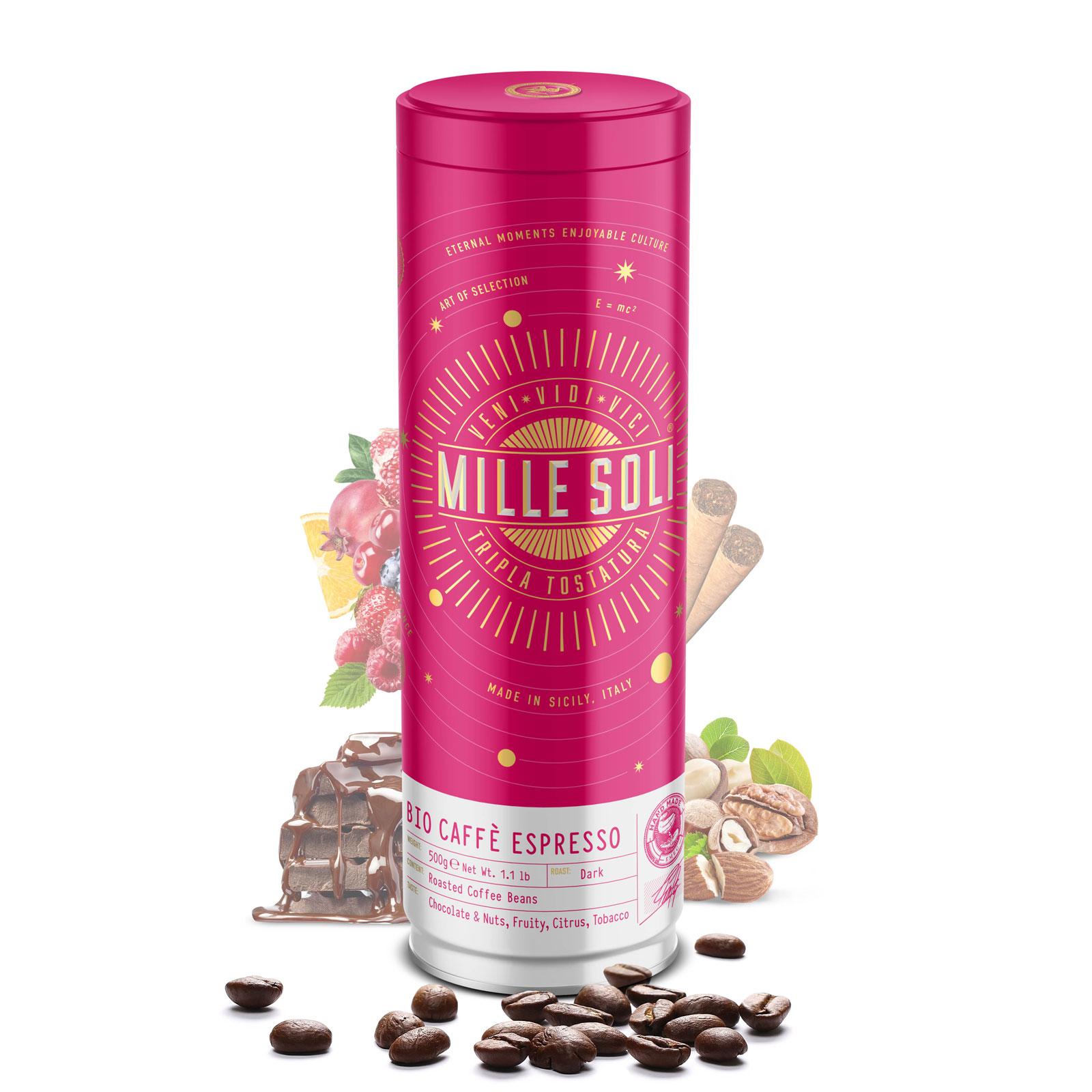 MILLE SOLI - BIO Caffè Espresso - 500g - Bohnen