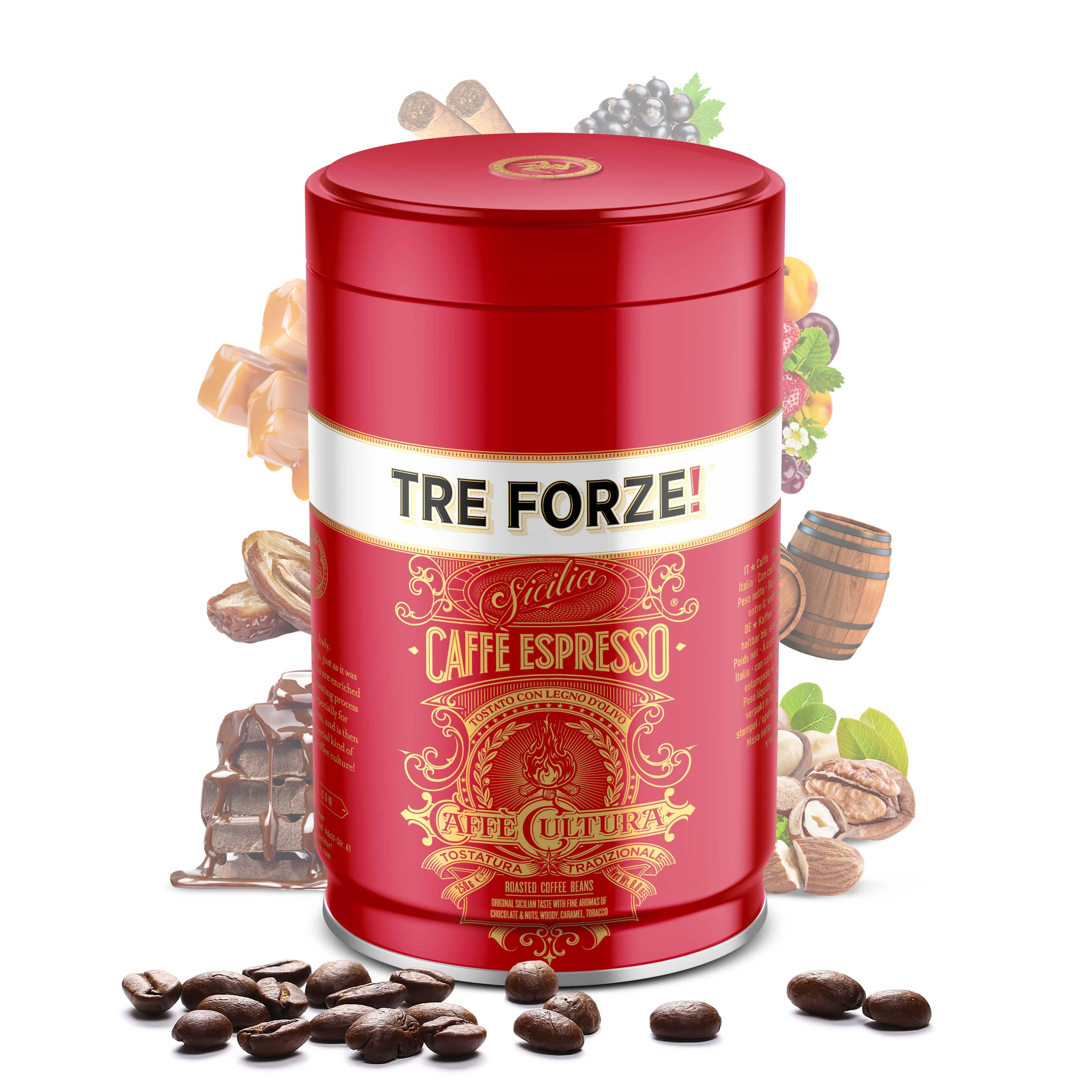 TRE FORZE! - Caffè Espresso - 250g Bohnen