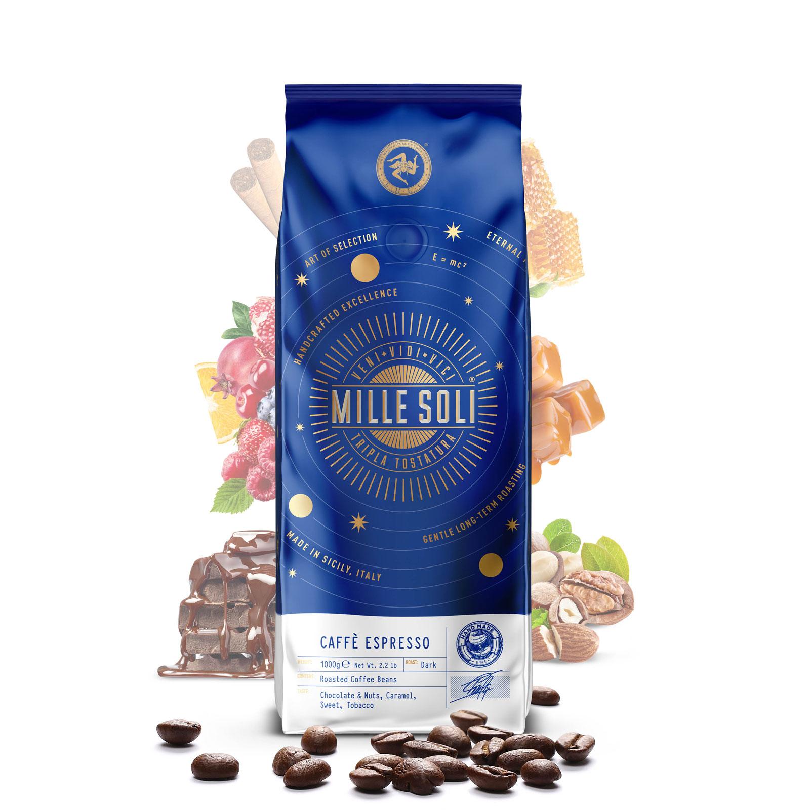 MILLE SOLI - Caffè Espresso - 1000g - Bohnen