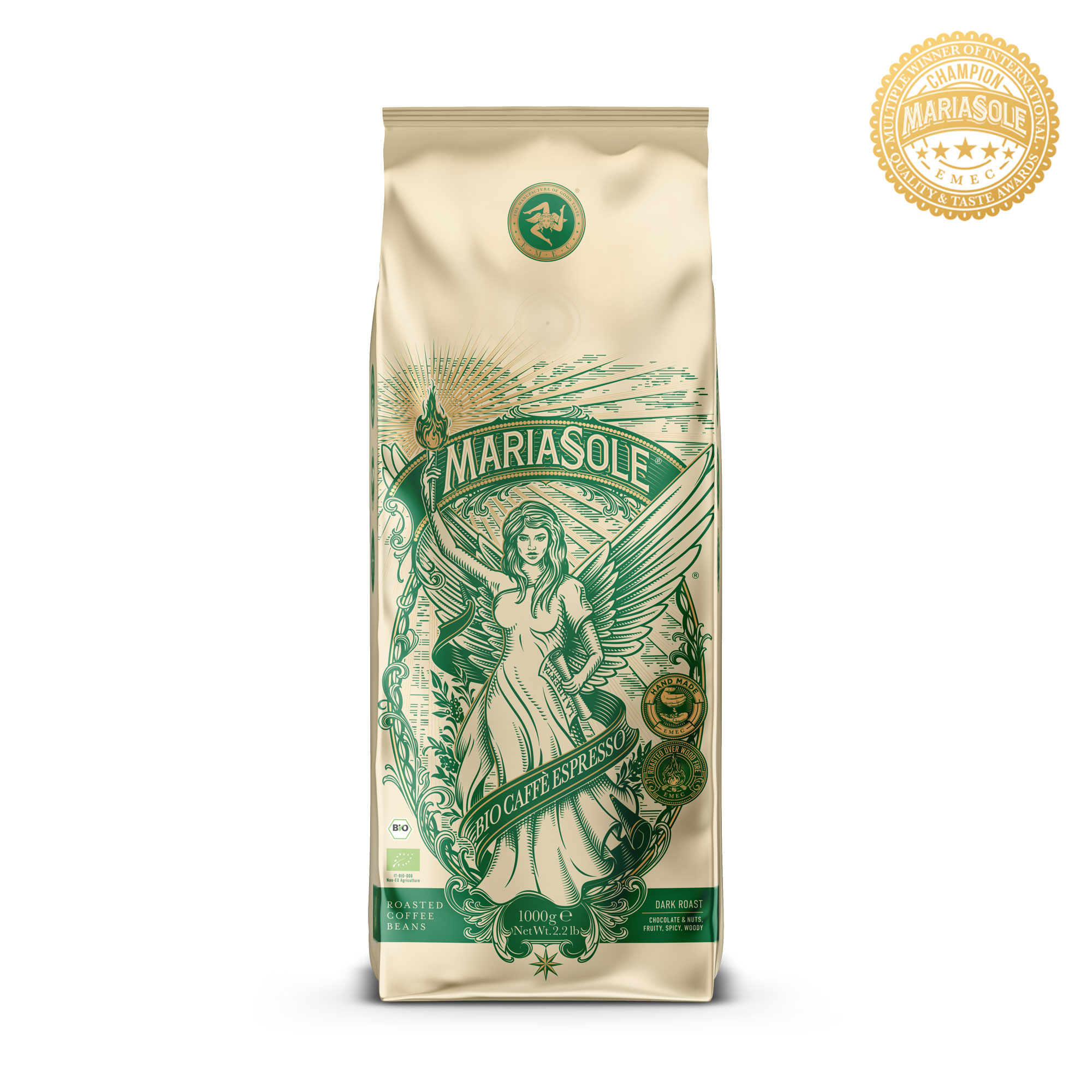 MARIASOLE - BIO Caffè Espresso - 1000g - Bohnen