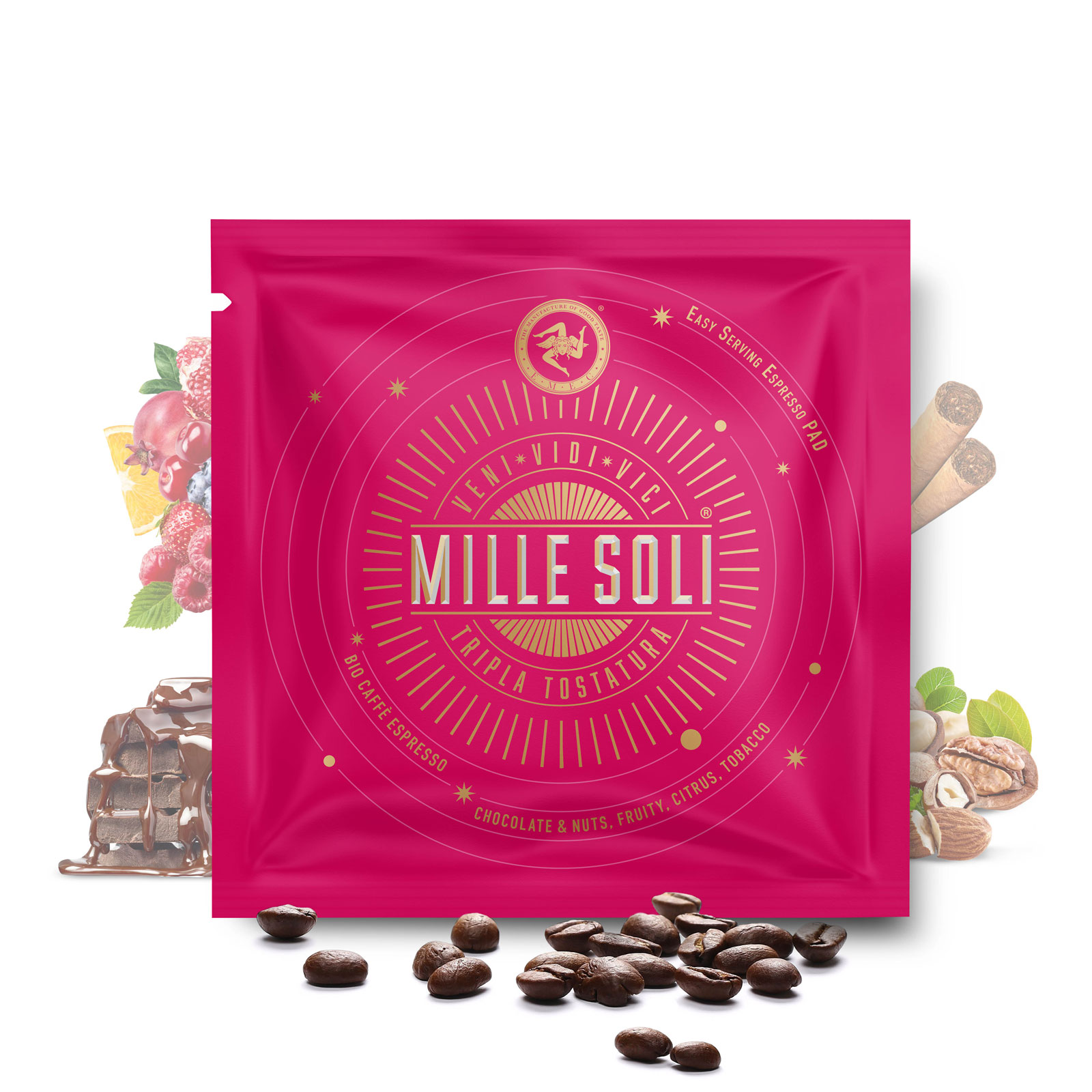 MILLE SOLI - BIO Caffè Espresso - E.S.E Pads LUNGO
