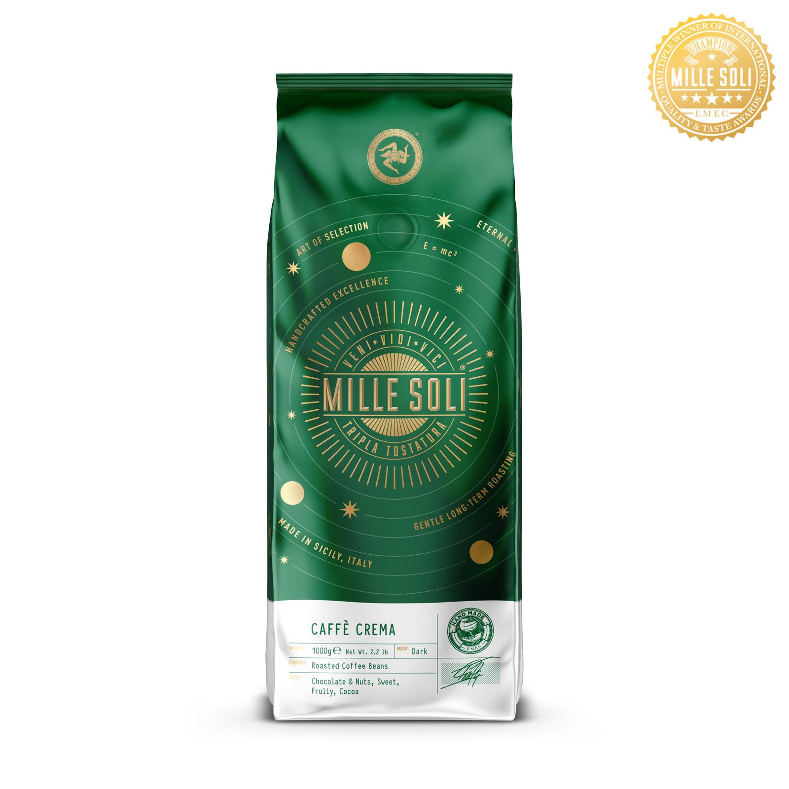 MILLE SOLI - Caffè Crema - 1000g - Bohnen