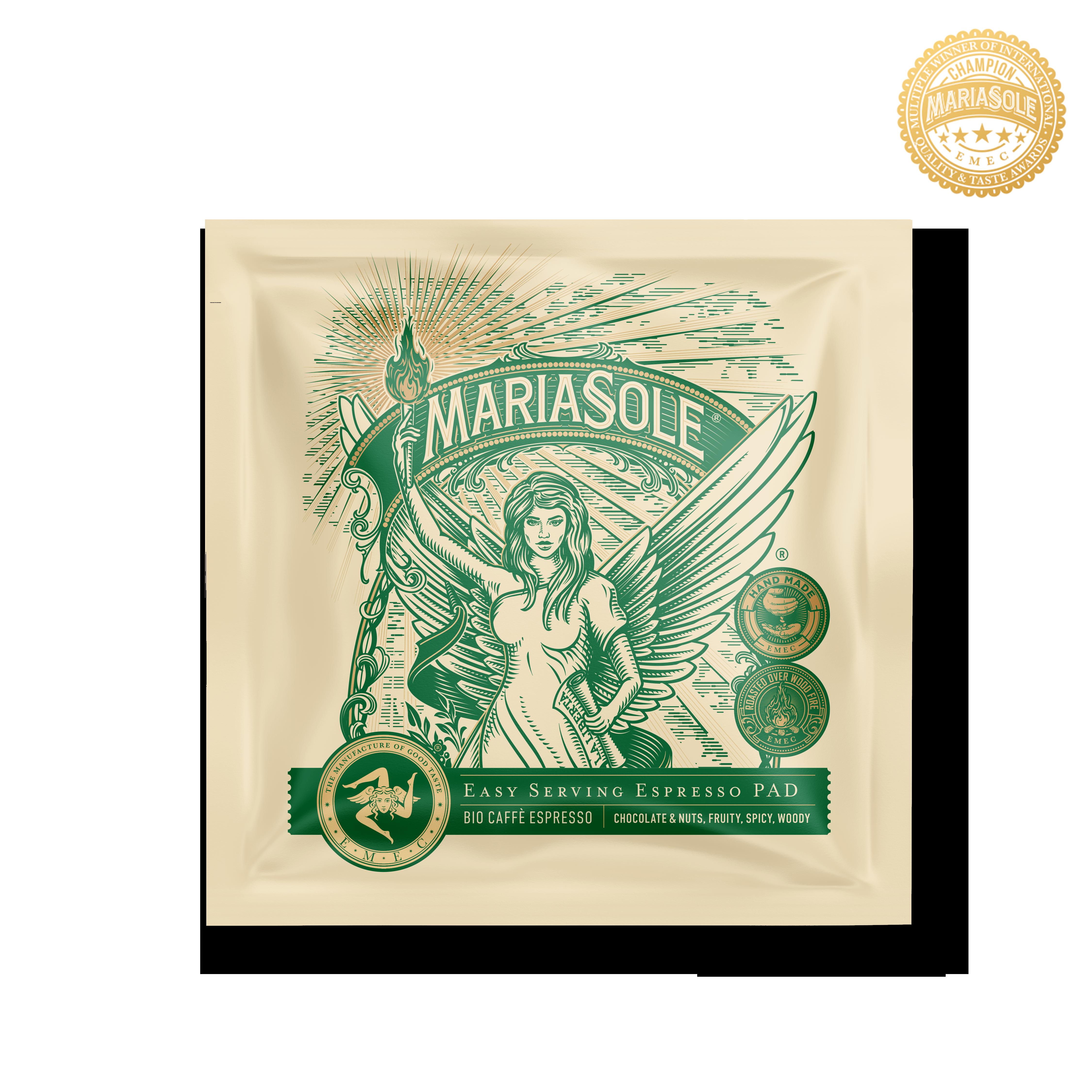MARIASOLE - BIO Caffè Espresso - E.S.E Pads LUNGO