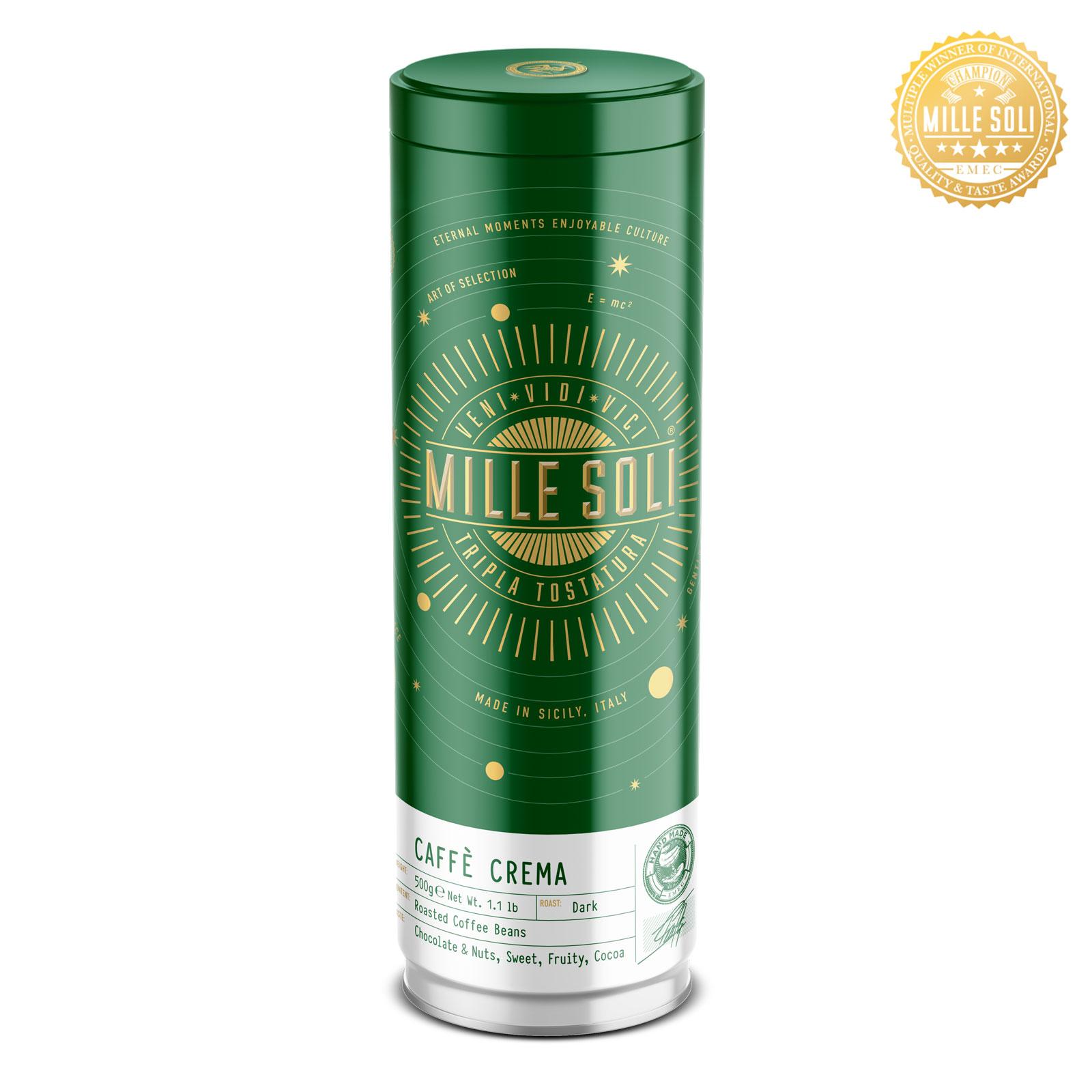 MILLE SOLI - Caffè Crema - 500g - Bohnen